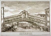 Ponte di Rialto, pl. 56 from the series Le fabriche e vedute di Venetia... (Buildings and Views of Venice)