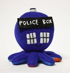 The TARDIS as a cute little octopus plushie