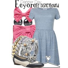 Disney Bound - Eeyore ~ Dapper Day ~ Winnie the Pooh Disney Character Outfits, Disney Bound Outfits, Disney Dresses, Disney Clothes, Disney Inspired Fashion, Character Inspired Outfits, Disney Fashion, Dapper Day Outfits, Cute Outfits