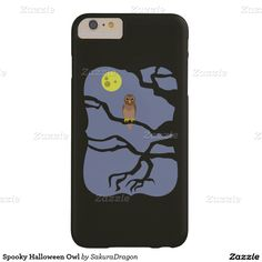Spooky Halloween Owl Barely There iPhone 6 Plus Case #halloween #owl #birds #tree #happyhalloween