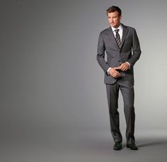 Charcoal End-On-End Suit by J.Hilburn