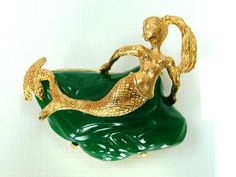 Florenza Jewelry Mermaid jade brooch pin