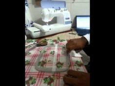 Técnica para fazer barrinhas em maquina de bordado