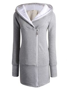 f682dd76020 Warm amp long Zip Up Long Sleeve Hoody Hoodie Jacket