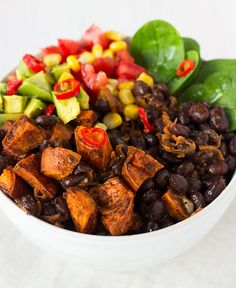 Black Beans   Sweet Potato Mexican Bowl - Sprinkle of Green