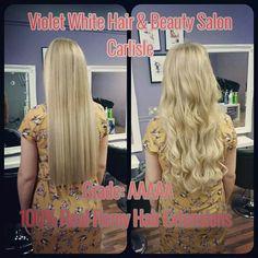 Love Heart Nail Art Violet White Hair Beauty Carlisle