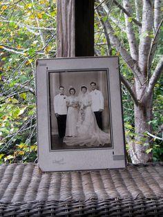 vintage WEDDING PHOTO cir 1930  8 x 10 by AlchemistPantry on Etsy, $7.00