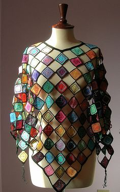 Crochet Poncho - I want to remember this interesting design idea