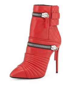 Giuseppe Zanotti Quilted Leather Double-Zip Boot,