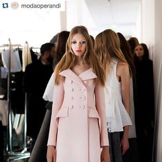 #Repost from @modaoperandi  Pressing pause on this #couture moment with @dicekayek | Click link in bio to #PreO the #stunning statement pieces now! #bts #prettyinpink  pc: @pascal.therme by dicekayek