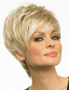 Shari Wig by Envy is made in a capless Open Top construction for the most breathable, lightweight comfortable fit. Shari is trendy chich with its long side swept bangs. The style can be pumped for more volume or worn more sleek and close to the head. Shari is made in our Large Cap size for those looking for additional freedom of fit.  Available in vibrant multi-dimensional colorations to fit the trends of today. #sharibyenvywigs #largecapwig