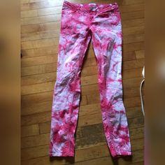 Tie dyed skinny jeans Pink tie dyed skinny jeans. NWOT. Size 7-8 ultra skinny. Aeropostale Jeans Skinny