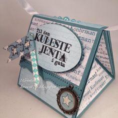 Kristinas kortblogg: Veskekort ei kul jente Cardmaking And Papercraft, Star Designs, Paper Crafts, Stars, Scrapbooking, Ebay, Triangle Shape, Tissue Paper Crafts, Paper Craft Work