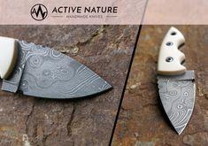 ACTIVE NATURE - Handmade Knives - Model: Neck Knife Ekto in Damascus steele Neck Knife, Handmade Knives, Damascus, Nature, Model, Collectible Knives, Damask