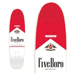 "5boro Skateboards ""Surgeon General Series- Flavor City Cruiser"" Skateboard Deck"