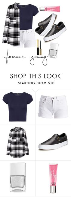 """""""forever young"""" by daiserz ❤ liked on Polyvore featuring WearAll, Barbour International, Vans, Nails Inc. and Beauty Rush"""