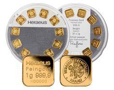 Heraeus 10 x 1 Gramm Goldbarren Multidisc der Kassenschlager bei CastellGold | goldankauf-haeger.de