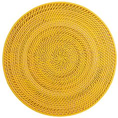 Deborah Rhodes Calypso Placemat ($45) ❤ liked on Polyvore featuring home, kitchen & dining, table linens, yellow, round placemats, deborah rhodes table linens, round table linens, deborah rhodes placemats and round place mats