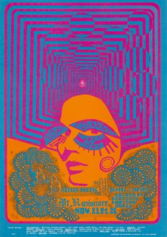 Big Brother and the Holding Company, November 23-25, 1967, Avalon Ballroom, San Francisco. Artist: Joe Gomez.