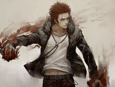 Read Suoh Mikoto I from the story K Project X Reader by hana-mi (雪雲) with reads. Manga Anime, Manga Boy, Anime Art, Hot Anime Guys, I Love Anime, Missing Kings, Suoh Mikoto, Male Character, The Garden Of Words