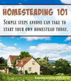 Homesteading 101 - Simple steps to start homesteading wherever you live, with whatever you have.