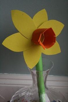 daffodil preschool craft by Seni Cok Seviryorum