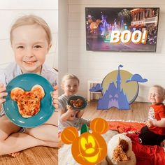 """Roberts Family on Instagram: """"Mickey Pizza Picnic at home 🎃 watching Disneyland's Frightfully Fun Parade 👻 celebrating #halfway2halloween with @disneyparksblog 🦇inspired…"""" Adventures By Disney, Disneyland, Picnic, Pizza, Celebrities, Fun, Inspiration, Instagram, Decor"""