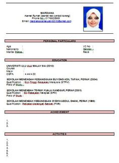 Resume Template 2016 Malaysia. resume template resumes samples in ...
