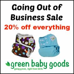 Store closing - Get 20% off #clothdiapers