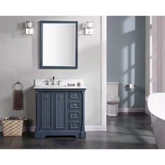 "Ari Kitchen & Bath Sebastian 36"" Double Bathroom Vanity Set"