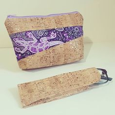 Cork duo Pouch Sewing Pattern by Alison on Loreleijayne.com Wooo i love this cork duo i just whipped up! It looks so good! These fabrics are available from @myfabricology #corkduo #loreleijayne #pouch #pouchpattern #sew #sewing