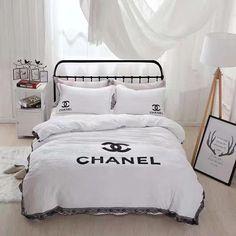 Copripiumino Chanel.Chanel Duvet Cover Blanket Quilt Coverlet Pillow Shams 4 Pc