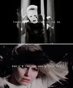 there's a dead girl inside me.  i can feel her rattling around, her lungs choked with loss, heart pounding like wardrums.  she had a laugh like summer rain until the world tore it away.  (little girls who wish on stars don't last long on the ground.)  there's a dead girl inside me and i'm the one who killed her. #ouat