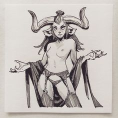 Female Character Design, Character Design Inspiration, Character Art, Demon Drawings, Dark Art Drawings, Tattoo Sketches, Art Sketches, Goblin, Sleep Paralysis Demon