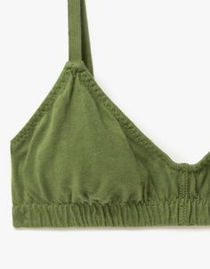 Simple bralette from Pansy in Leaf. Elasticized straps and band at the bust. Sewing Clothes, Diy Clothes, Estilo Hippie, How To Make Clothes, Lace Bra, Pansies, Lounge Wear, Thrifting, Sewing Projects