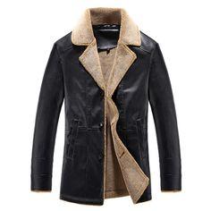 45$  Watch here - 2017 Autumn Winter Men Soft PU Leather Jacket Men Business Casual Coats Male Jaqueta Masculinas Inverno Couro Plus size 4XL   #buyininternet