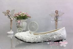 e830121d6 R$ 337.22 |LOUCHUNLAN Tamanho Grande 41 48 Branco Sapatos De Casamento do  laço de strass flor pérola Sapatos de Noiva do sexo feminino sapatos de Salto  Alto ...