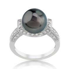Radiance Pearl 18k Gold Tahitian South Sea Pearl and Diamond Ring