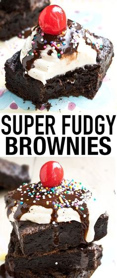 These FUDGY eggless BROWNIES are easy to make with simple ingredients and no mixer. This no egg brownies recipe makes the perfect dessert or snack. (choclate brownies no eggs) No Egg Desserts, Eggless Desserts, Chocolate Desserts, Easy Desserts, Delicious Desserts, Dessert Recipes, Yummy Food, Dessert Ideas, Bar Recipes