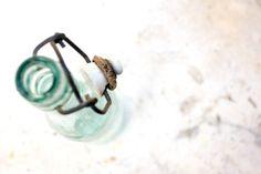 Vintage Soda Bottle Glass Wire Bail Bottle by TheThingsThatWere, $12.00