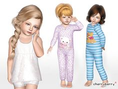 Cute sleepwear set by CherryBerrySim - Sims 3 Downloads CC Caboodle