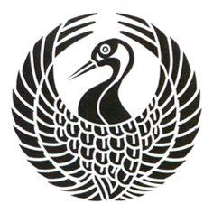 森蘭丸の家紋(鶴丸)