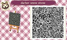 arolunacrossing:new qr of my stepping stone path for the darker snow! I need to check, but I believe this color will last until the 25th of february when the snow changes completely to grass again.