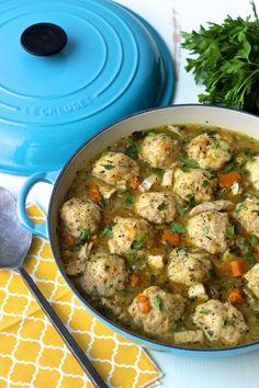 A healthier Chicken & Dumplings   @foodiephysician