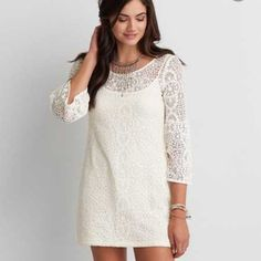 Lace Bell Sleeve Dress NWT, never worn American Eagle Outfitters Dresses