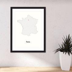 Hanging Paris. All roads lead to Paris. #2 #mazeart #map #france #paris.  #map #maze  #artwork  http://ift.tt/1NJtlc7 #print #interactiveart