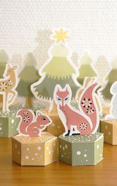 Calendrier de l'avent - Dans Mon Bocal Christmas Paper Crafts, Noel Christmas, Modern Christmas, Christmas Countdown, Little Christmas, Holiday Crafts, Vintage Christmas, Christmas Decorations, Christmas Boxes