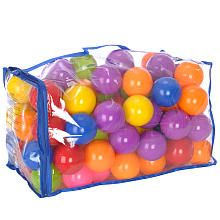 Stick these in a laundry basket or a playpen and you have an instant ball pit.  You can throw them without worrying about breaking things too.
