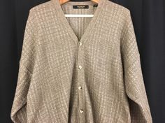Mens BACHRACH Textured Vintage Cardigan Sweater Size XXL Cosby Lebowski Style…