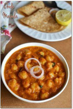 A nice saucy chana masala recipe.